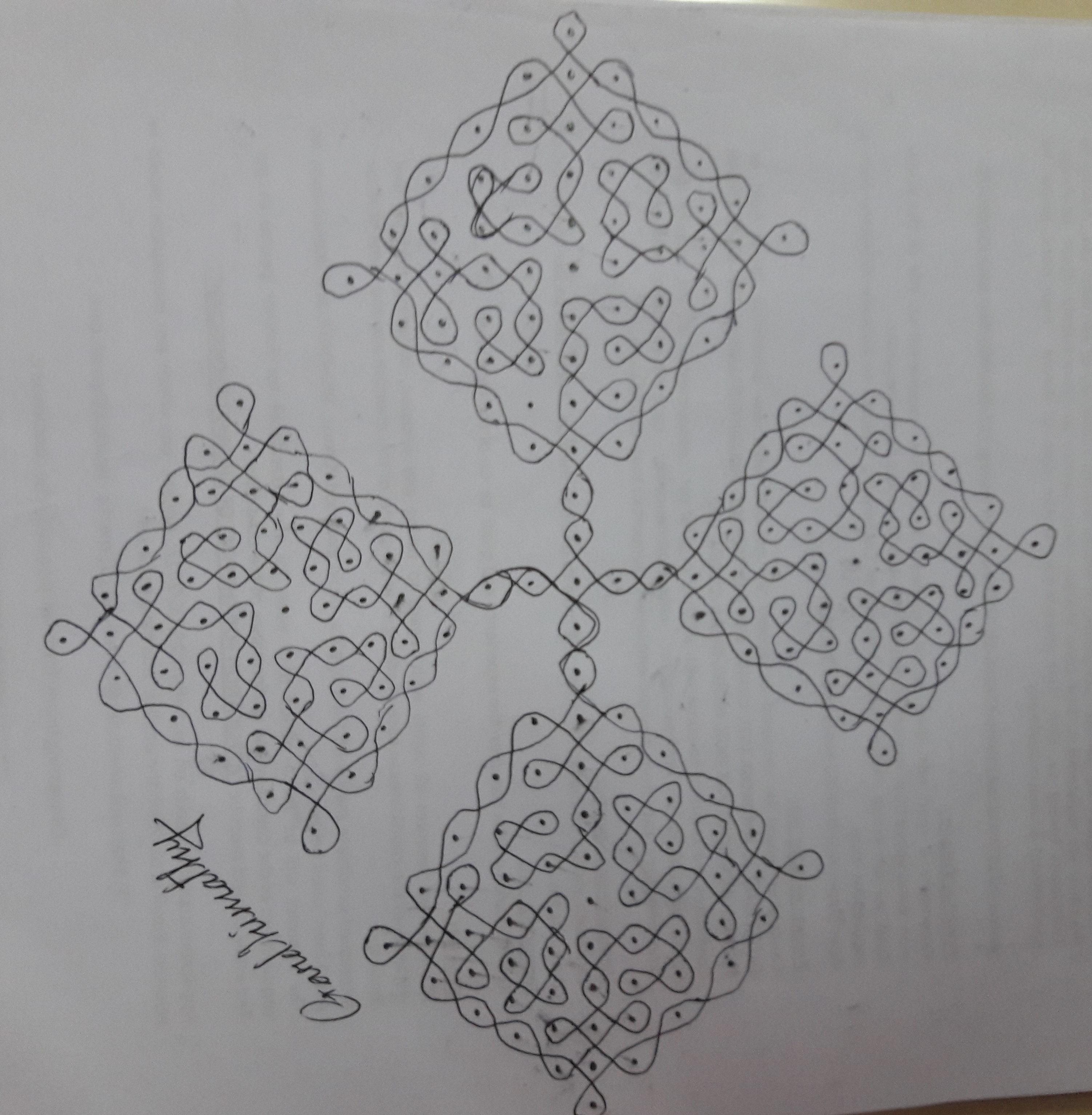 25 dots Sikku Kolam || Contest Kolam