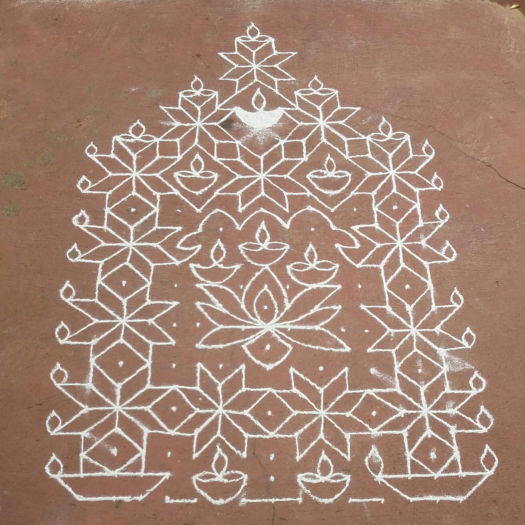 Adukku dheepa Kolam || Lamps kolam || 25 dots contest kolam