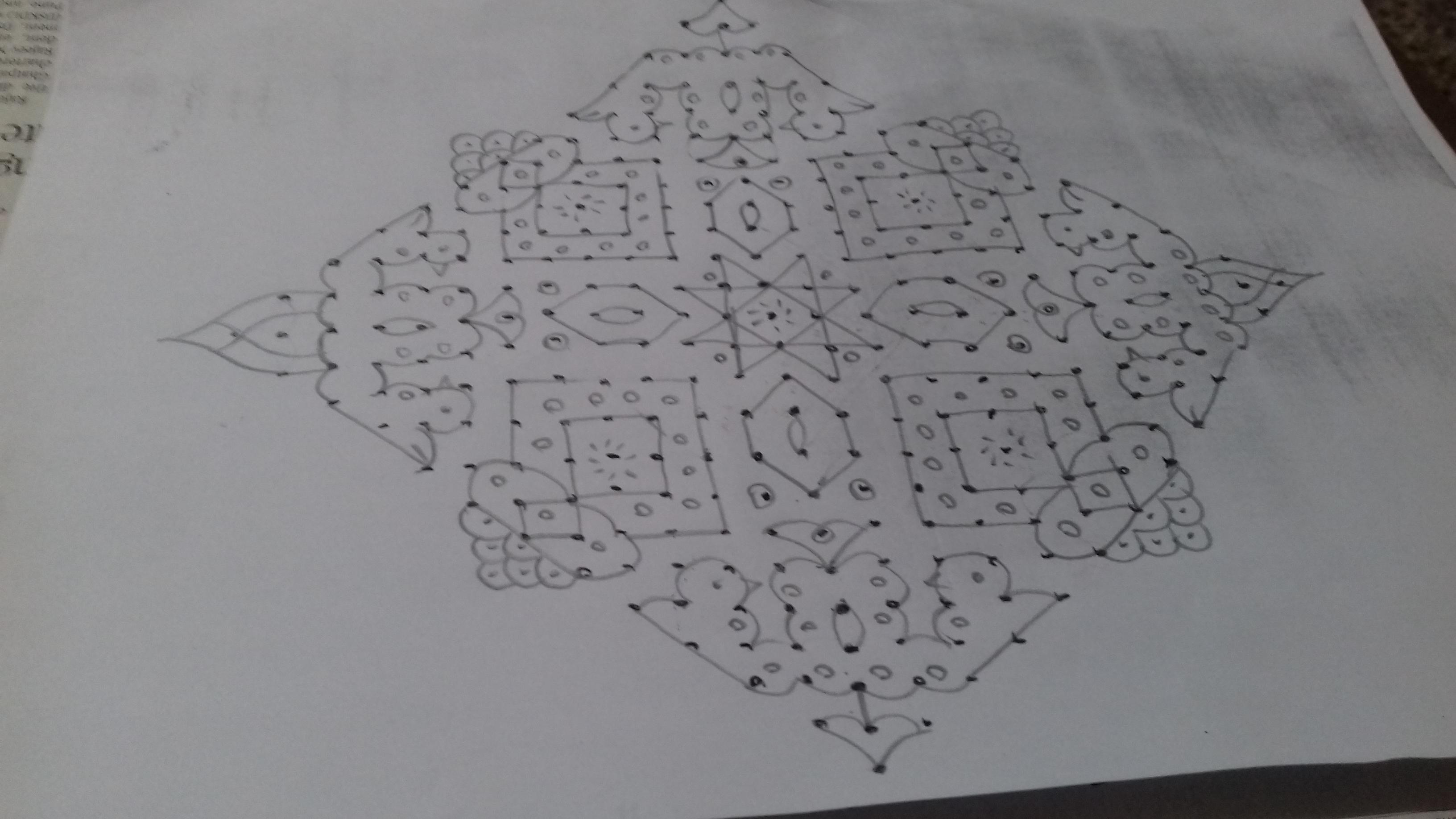 New design kolam || 25 dots contest kolam