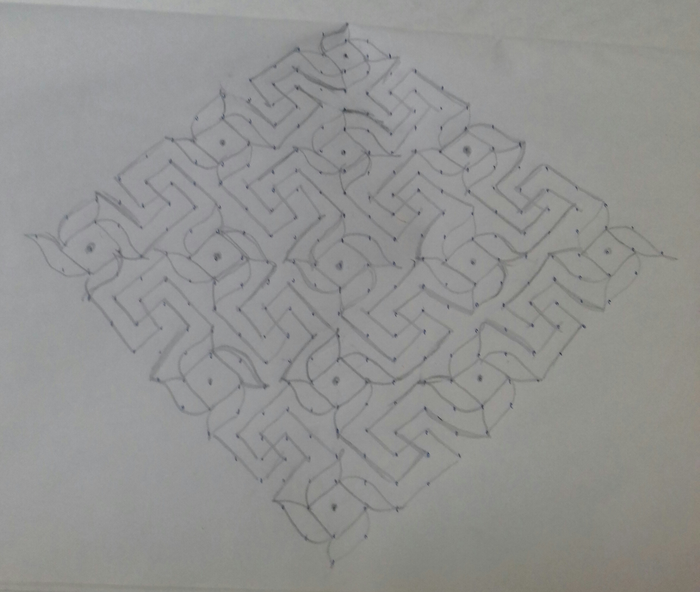Line kolam with 25 dots || Pinwheel design kolam for contest
