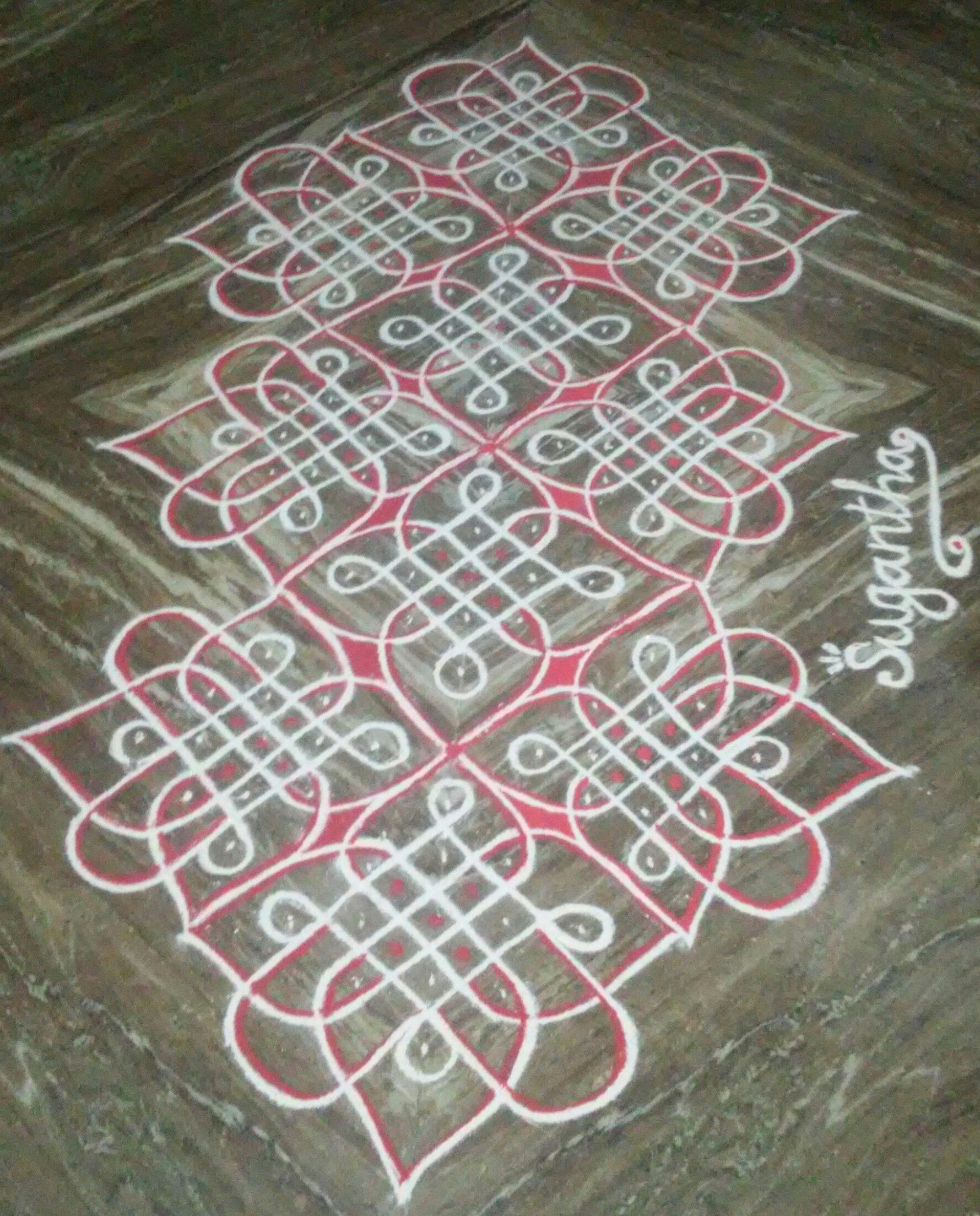 25 dots Flower Chikku kolam || Contest Kolam
