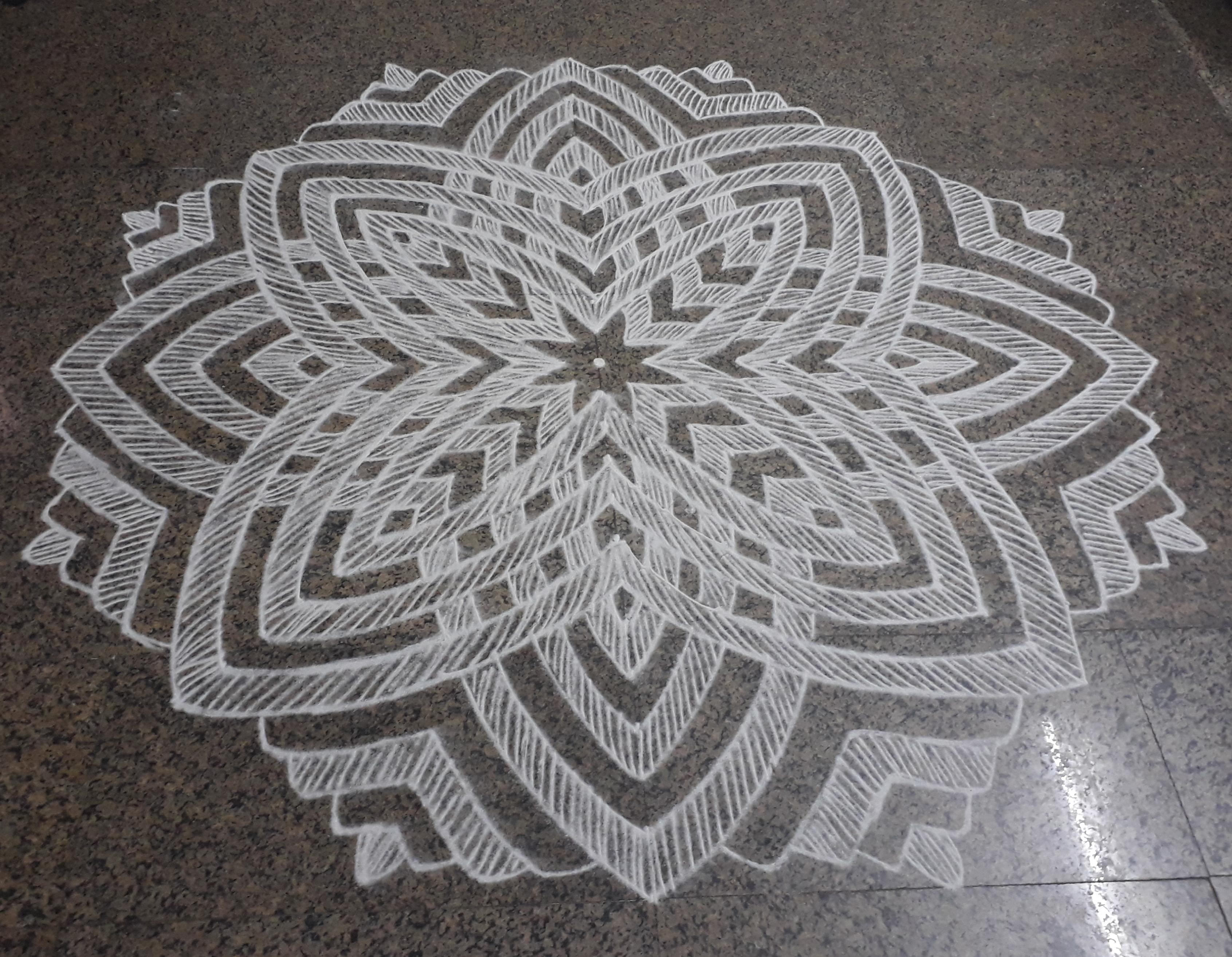 25 Dots contest kolam || Hridhaya Kamala  Kolam