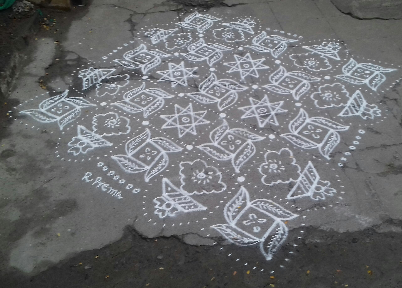 Pinwheel and Star Kolam    Contest Kolam
