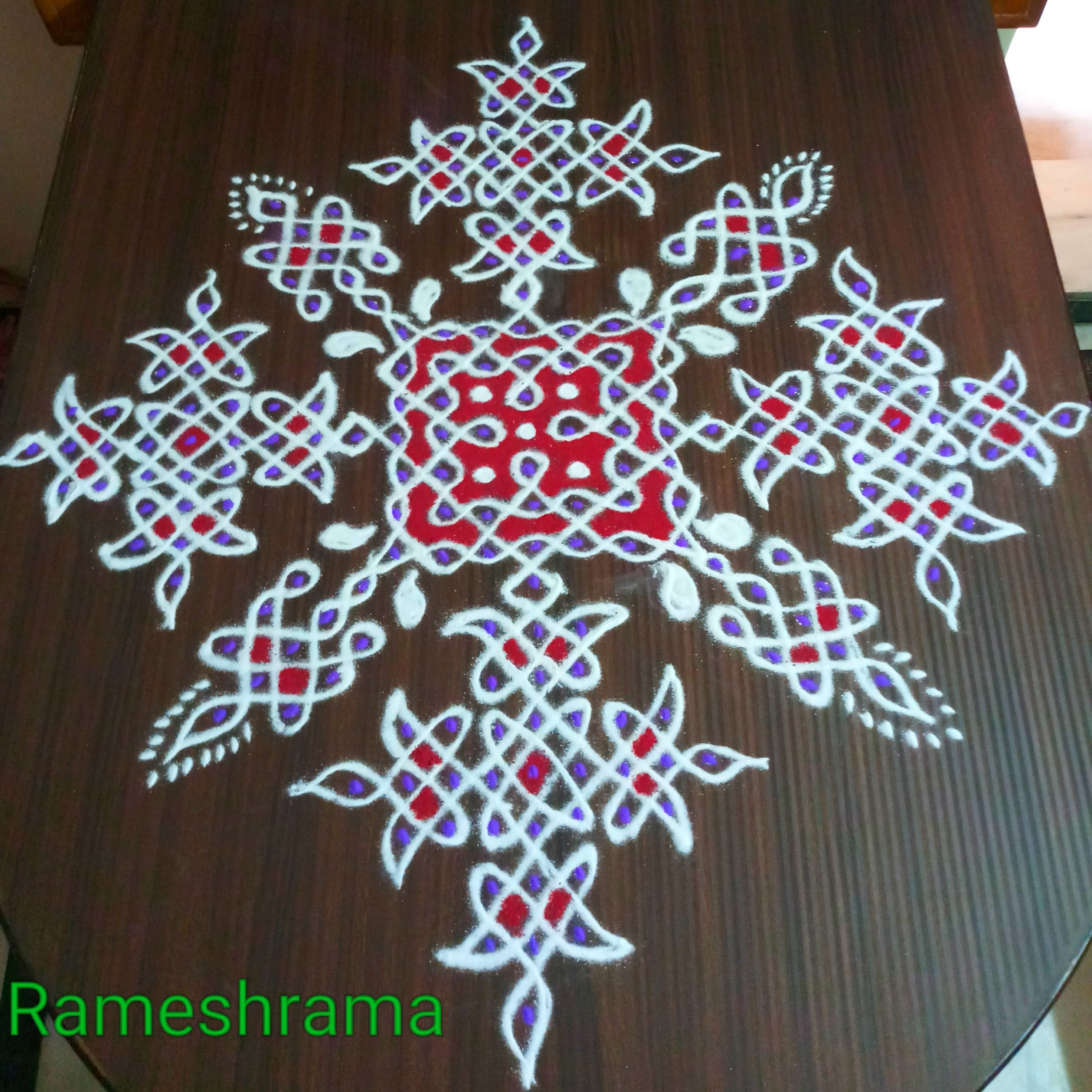 Sikku kolam with 25 dots || Big chikku Kolam for contest