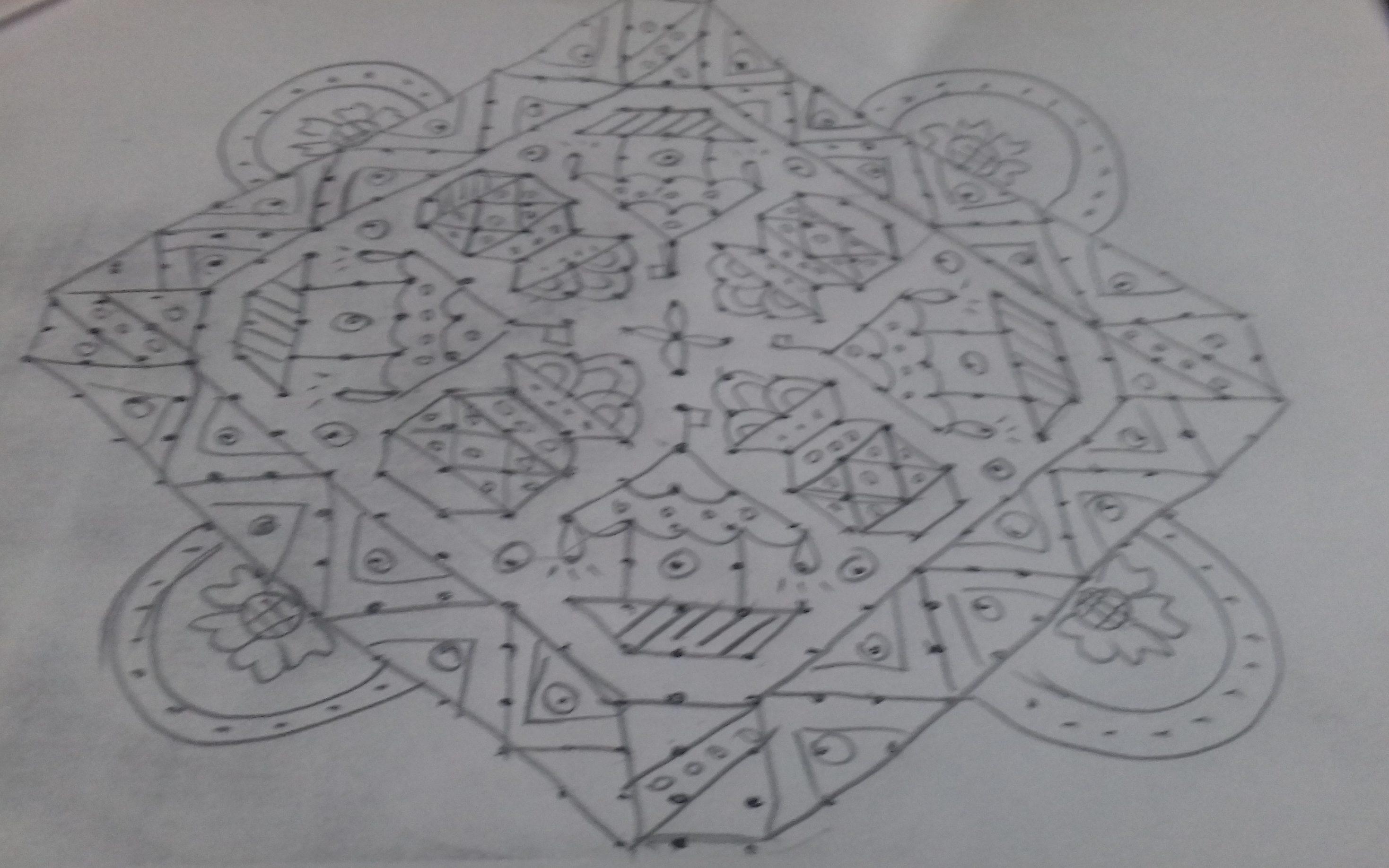 pongal pot and radham || 25 dots Contest Kolam