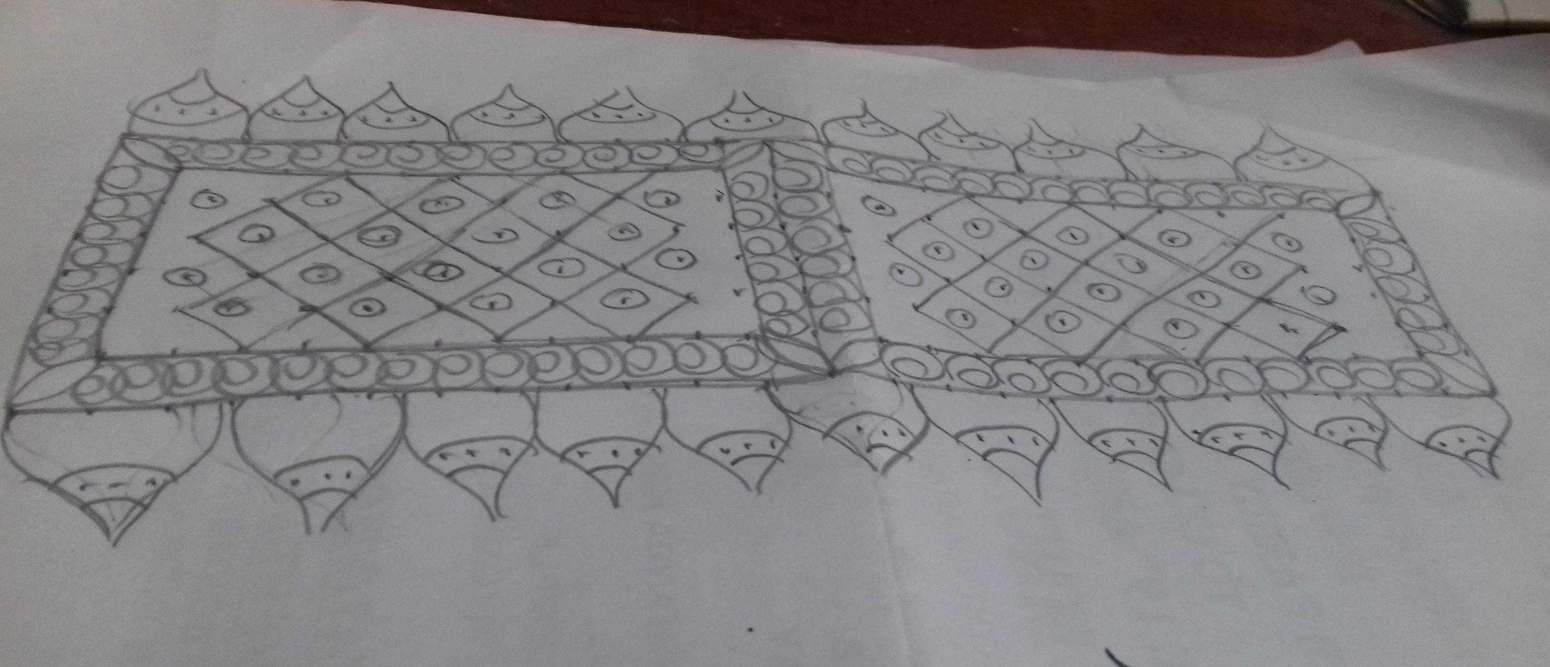 designed kolam    25 dots contest Kolam