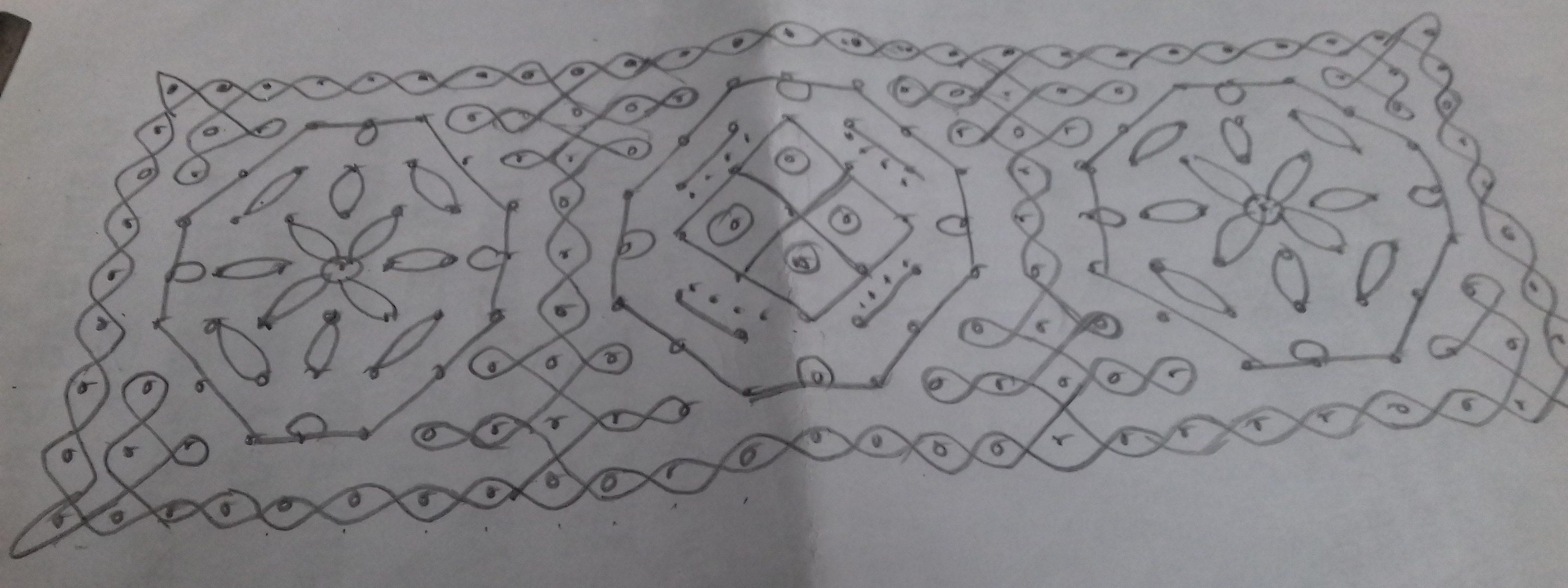 design with chikku border kolam || Sikku Kolam for contest