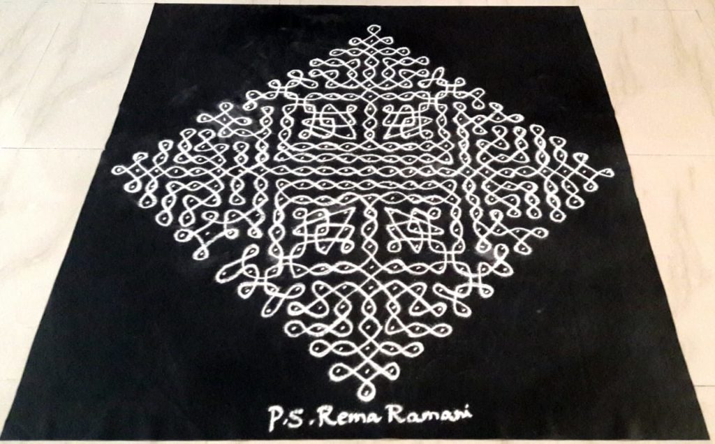 25 Dots Contest Kolam || Big chikku Kolam