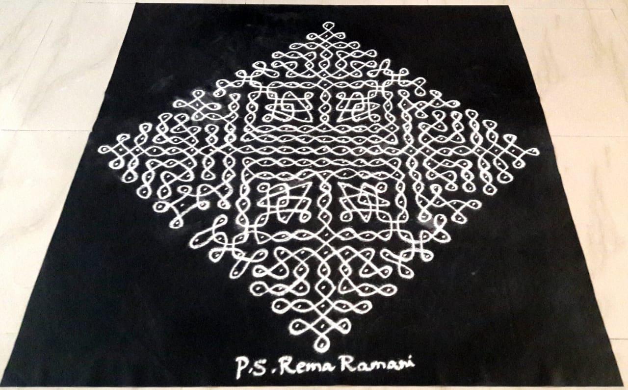 25 Dots Contest Kolam    Big chikku Kolam