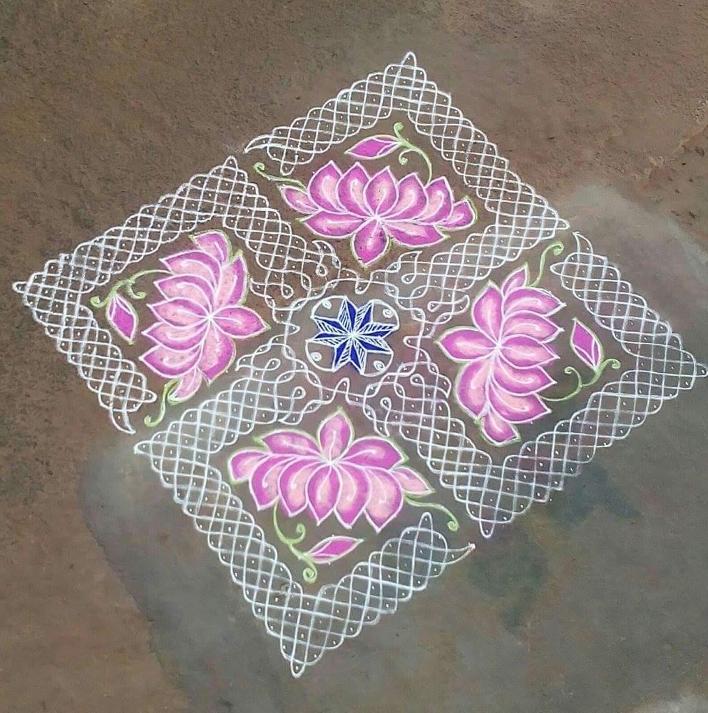 Sikku kolam 25 dots 25 times || Contest Kolam