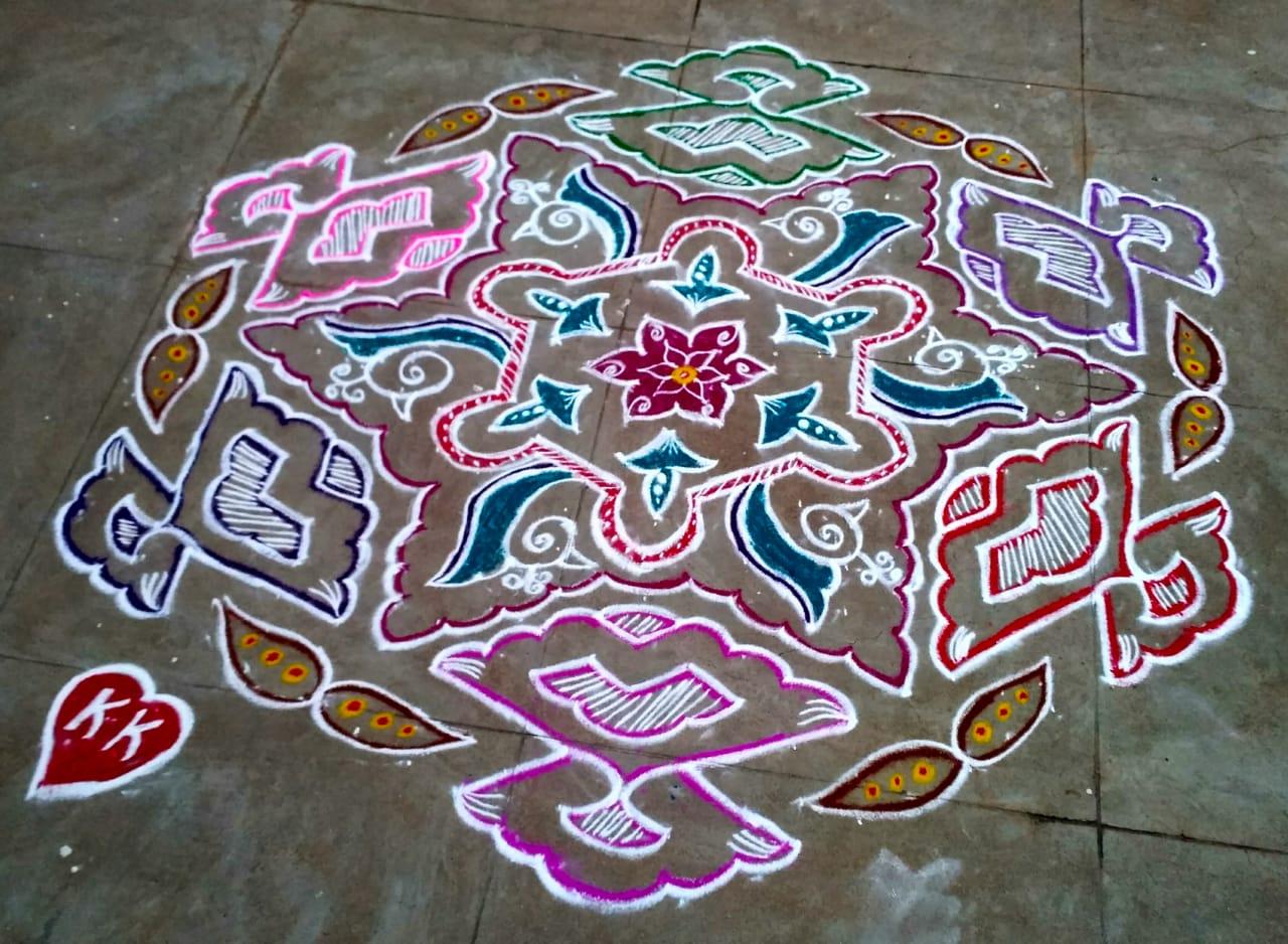Lovely kolam || 25 dots Contest Kolam