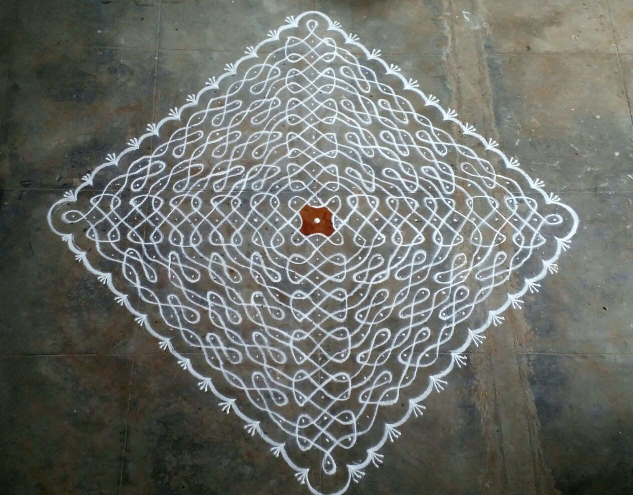 25 dots chikku complete connectivity kolam || Contest Kolam