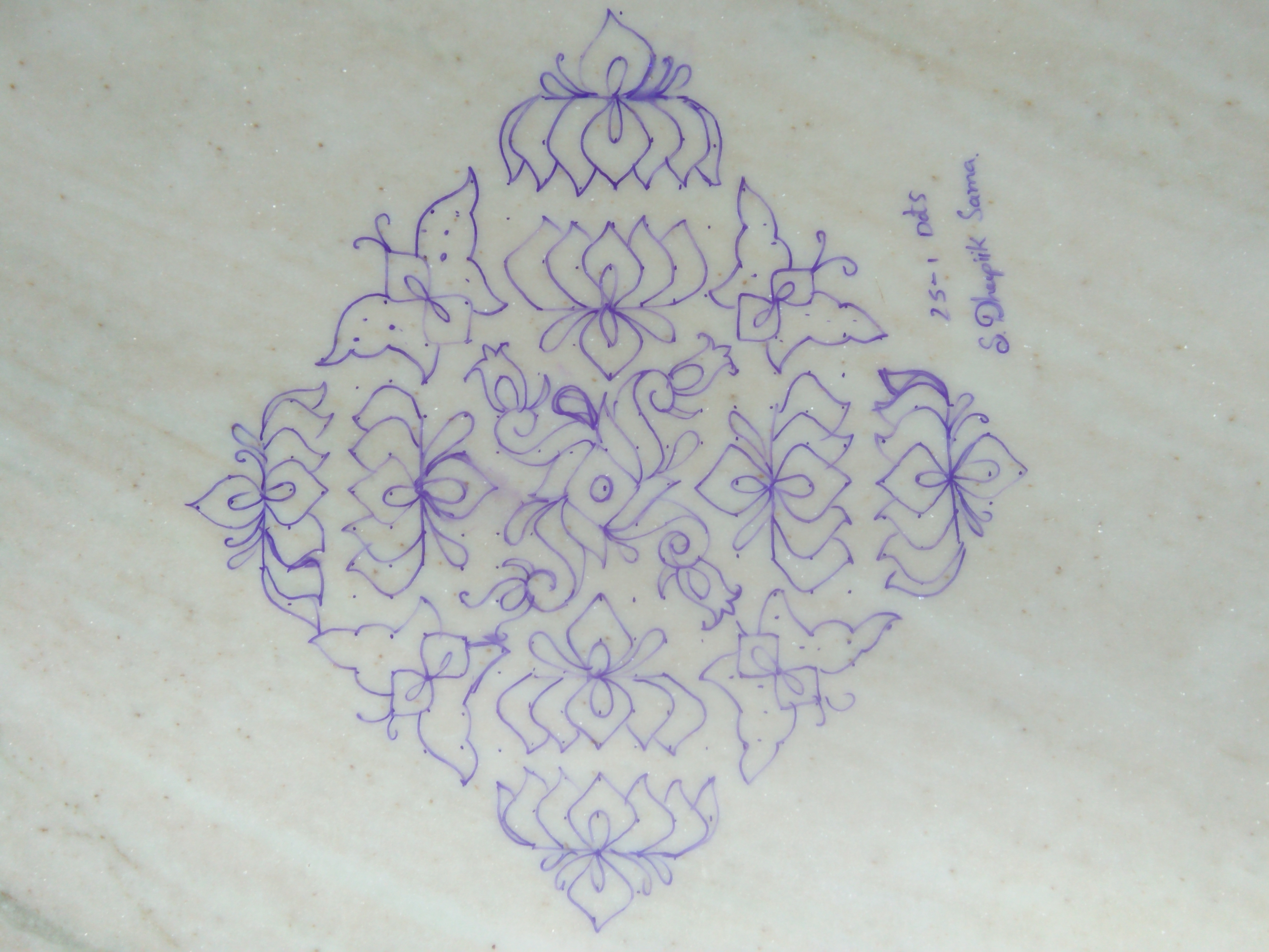 Lotus Flower Rangoli Designs With Dots Flowers Healthy