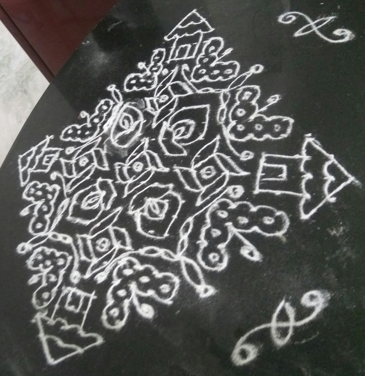 House  and Butterfly Kolam || 25 dots Contest Kolam