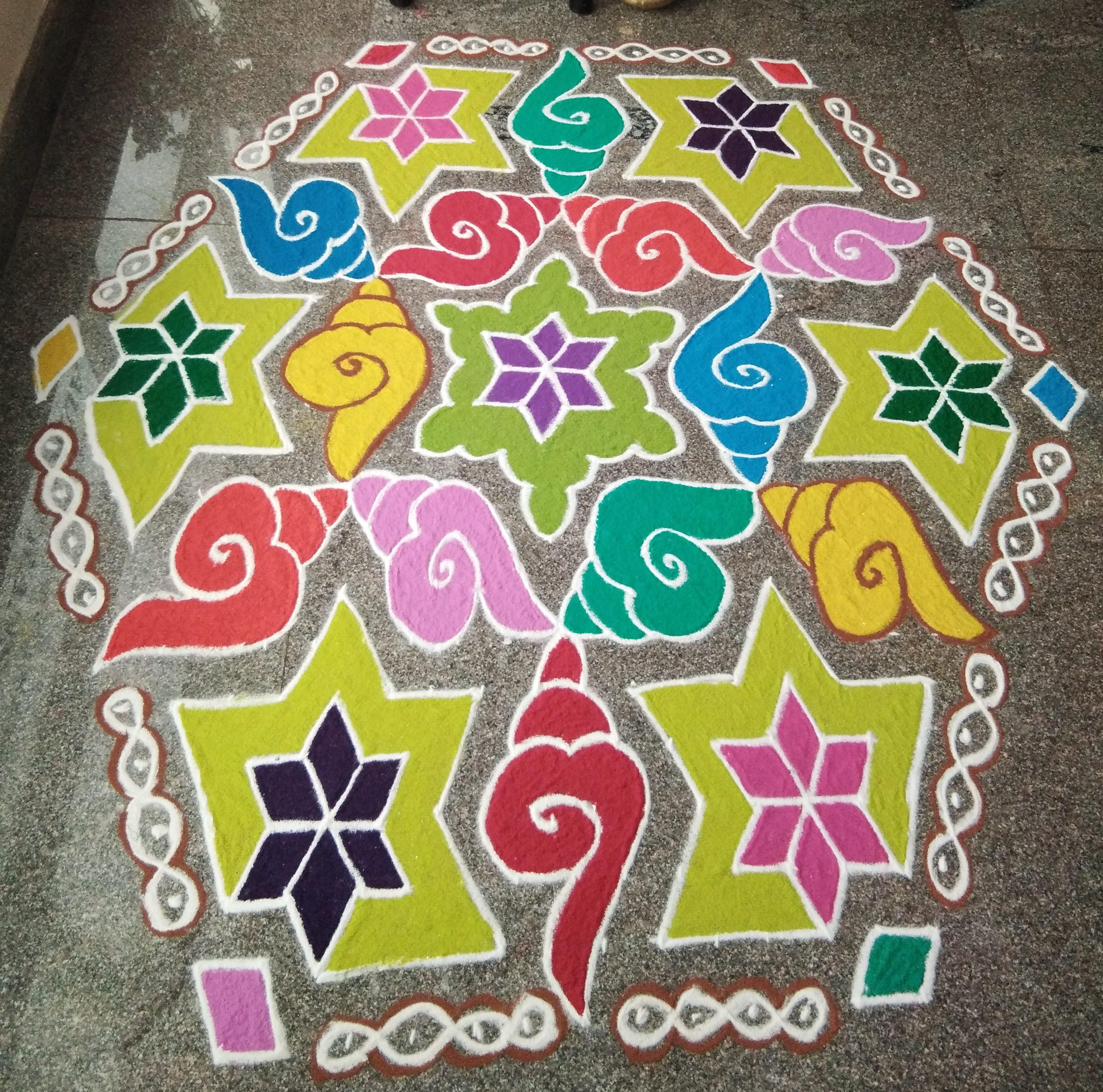 Sangu Kolam with 25 dots for contest