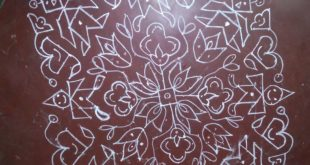 Toy kolam || 25 dots design kolam for contest