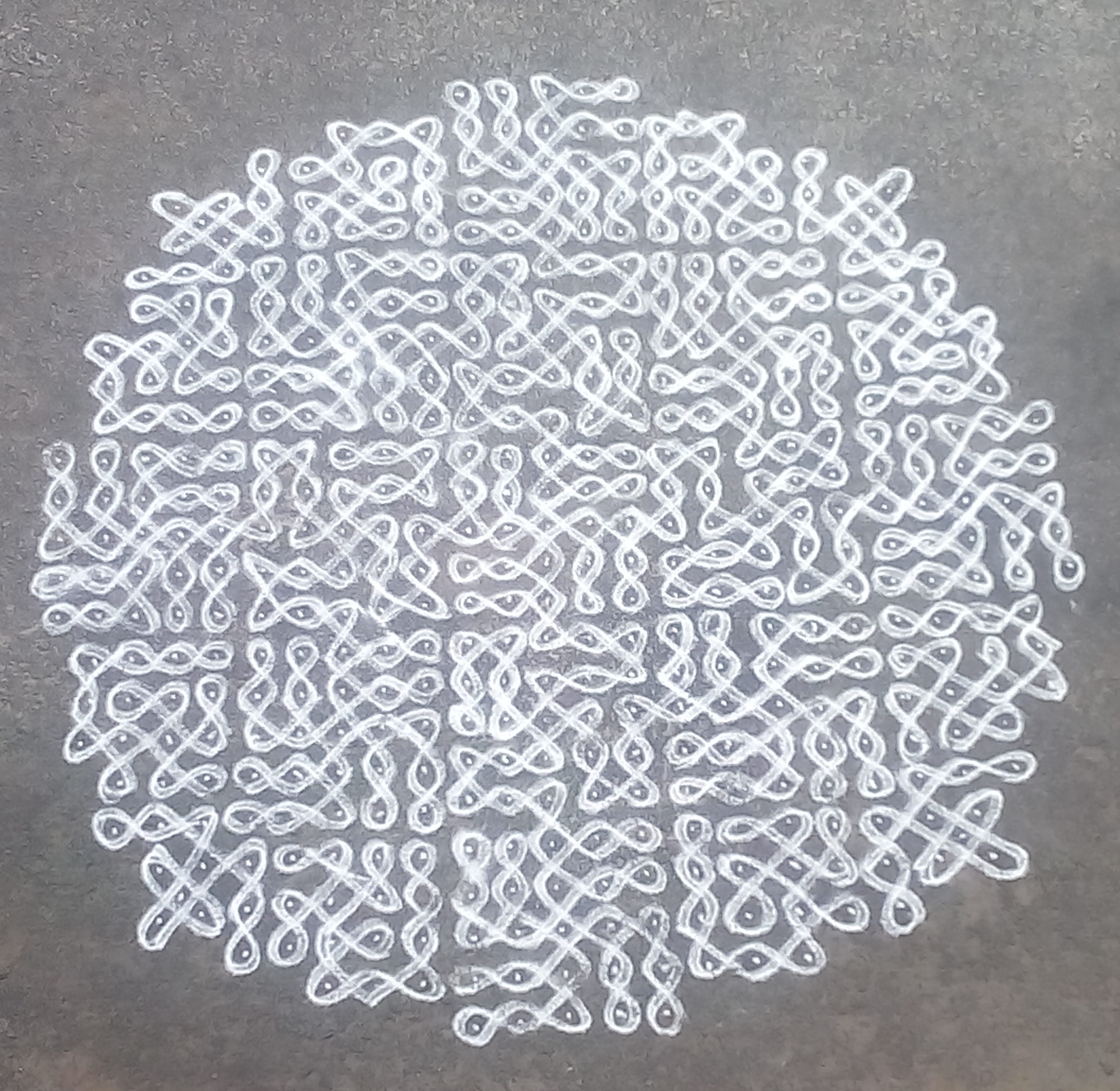 Sikku kolam with 25 dots || chikku kolam for Contest