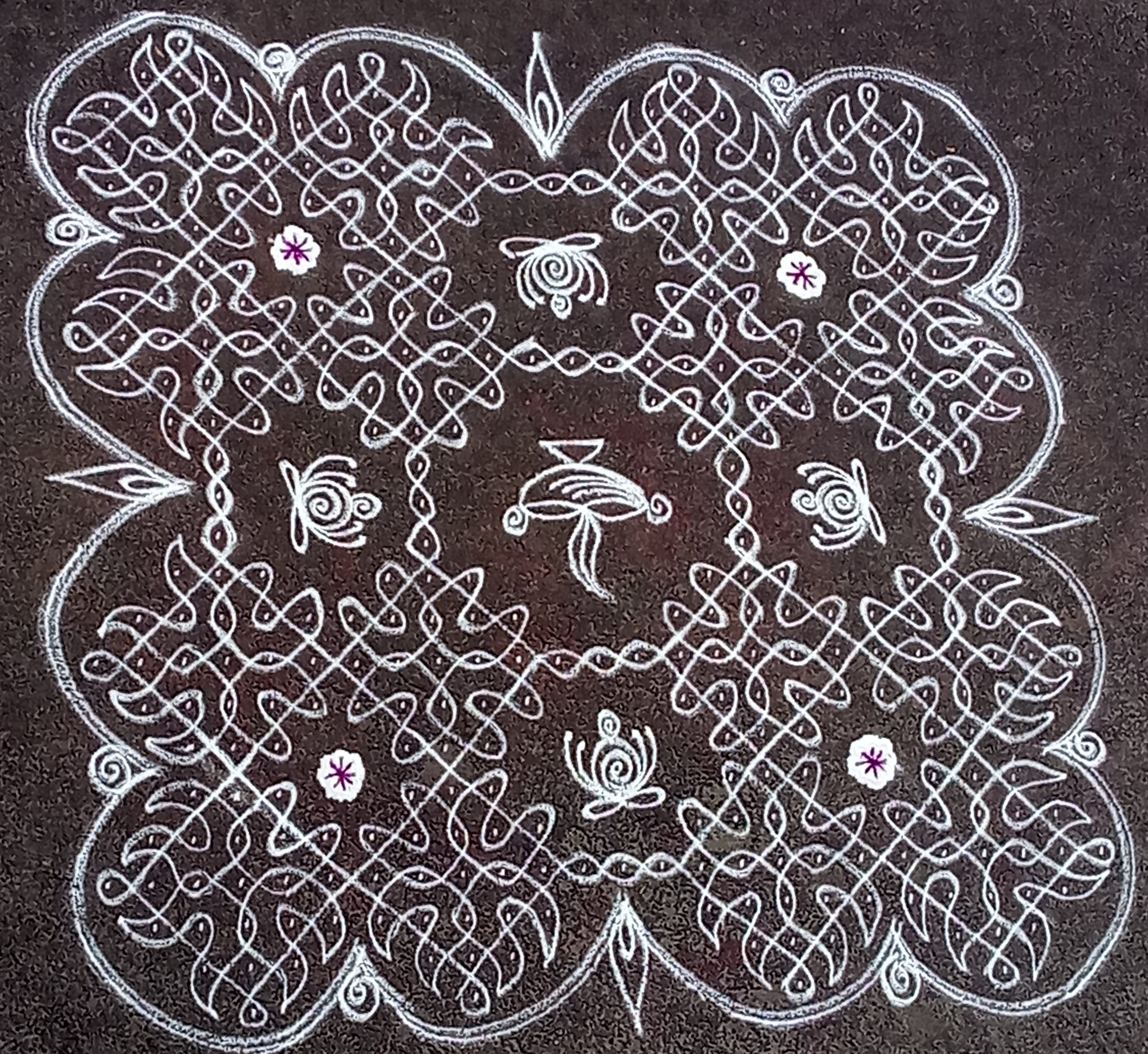 25 dots sikku kolam || chikku Kolam for Contest