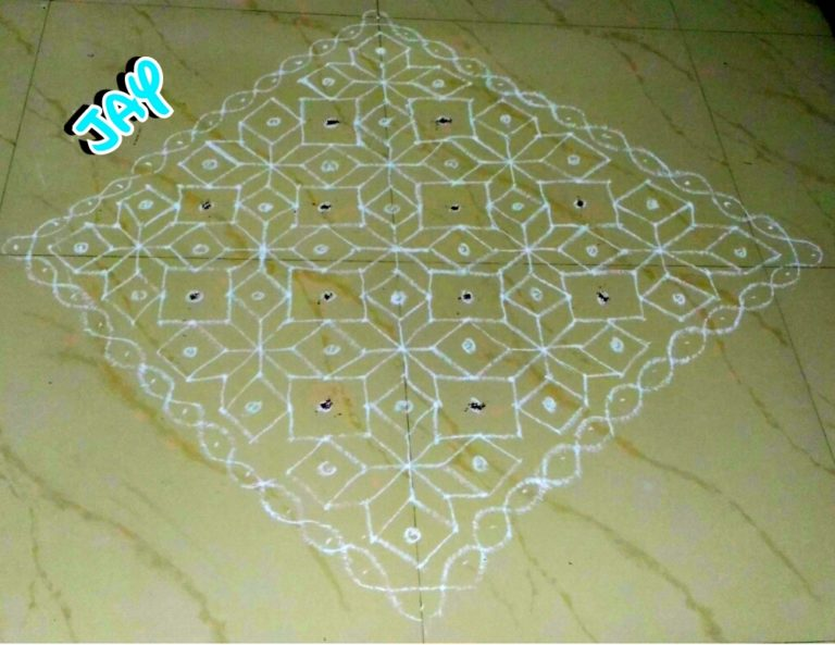 25 Dots diamonds Kolam || contest Kolam