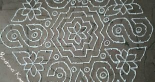 S kolam || 25 dots kolam for contest