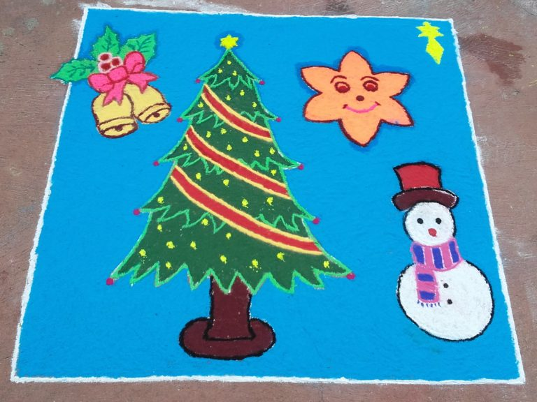 25 dots X'mas tree kolam || Christmas Tree contest kolam || Ezhil kolams