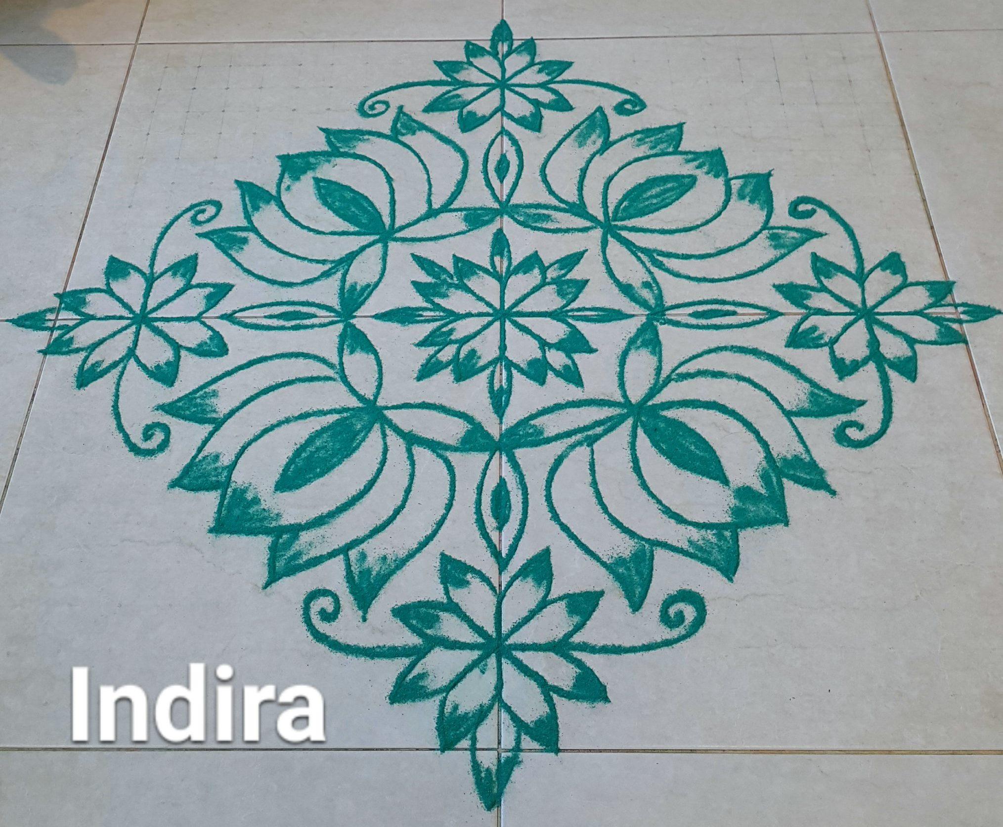25 Dots Lotus Flower kolam for contest