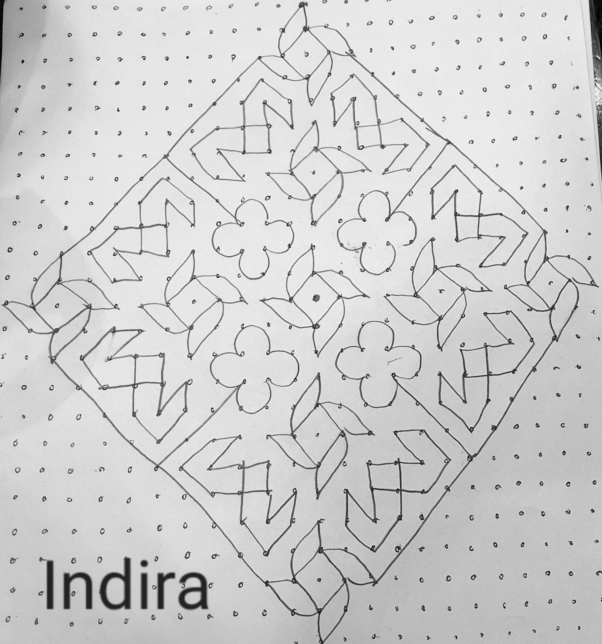 25 dots Pinwheel design kolam || Contest kolam