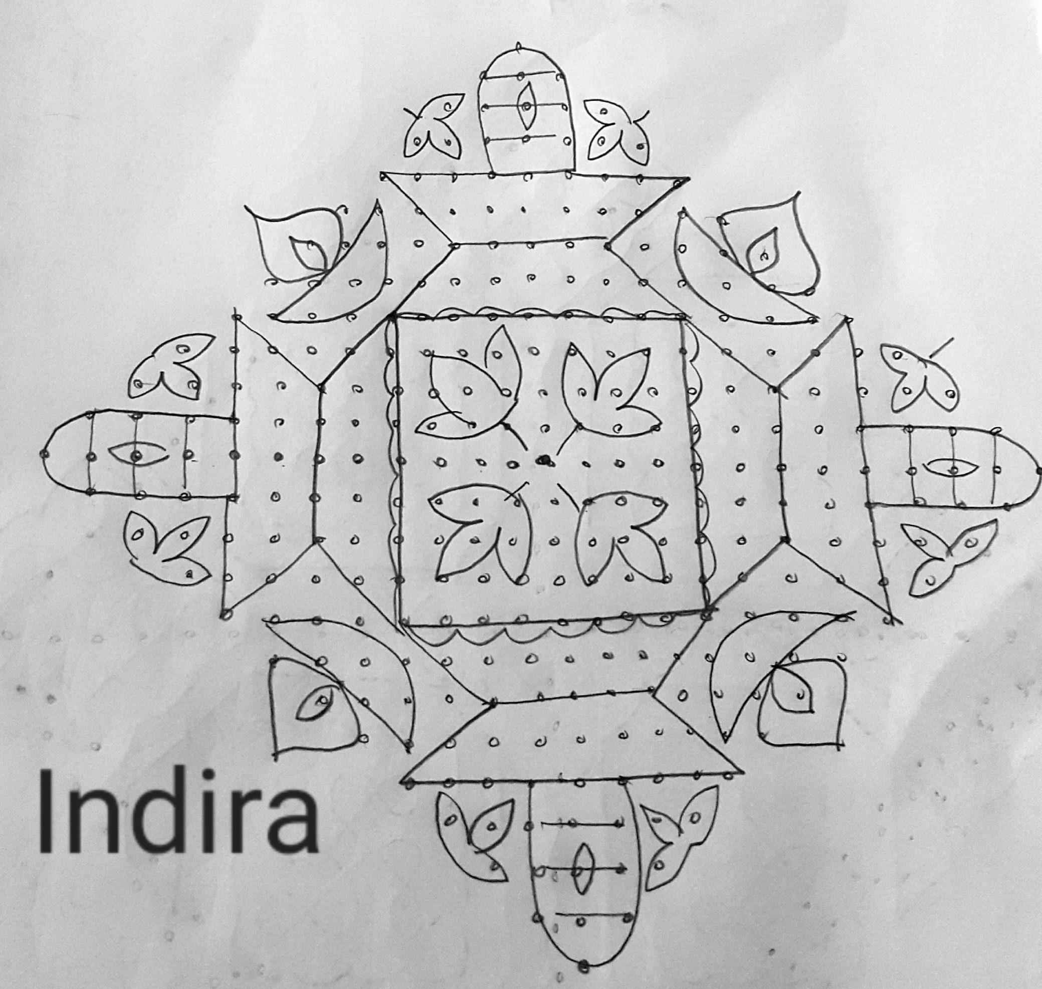 25 dots Sivalingam Kolam || Contest kolam
