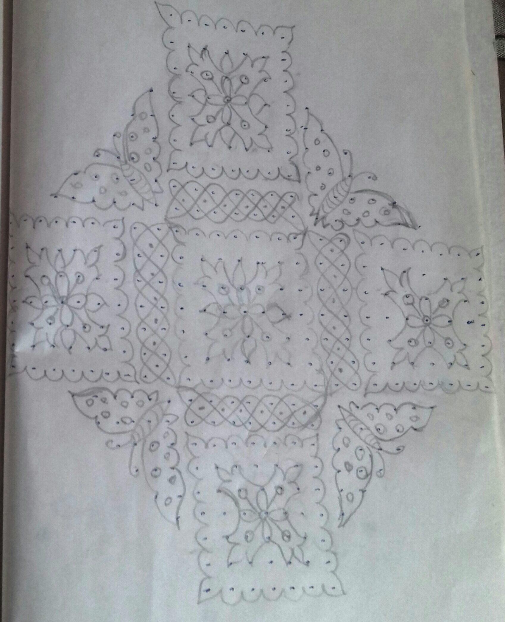 Butterfly, Flower Sikku Kolam || 25 dots Contest Kolam