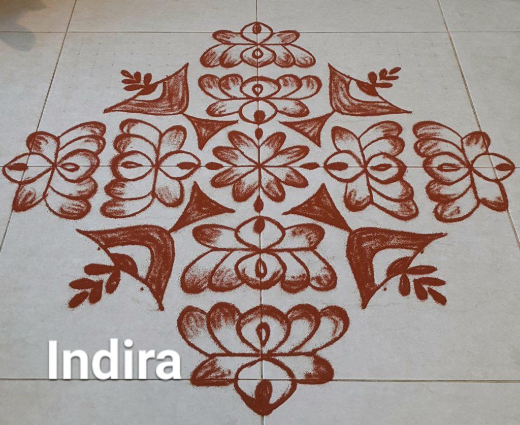 25 dots Lotus kolam || Thamarai kolam for contest
