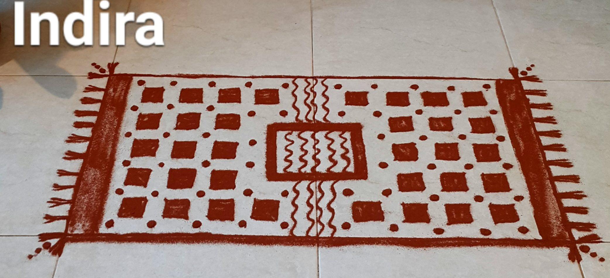 25 dots Carpet Kolam || Mat kolam25 dots Carpet Kolam || Mat kolam for contest