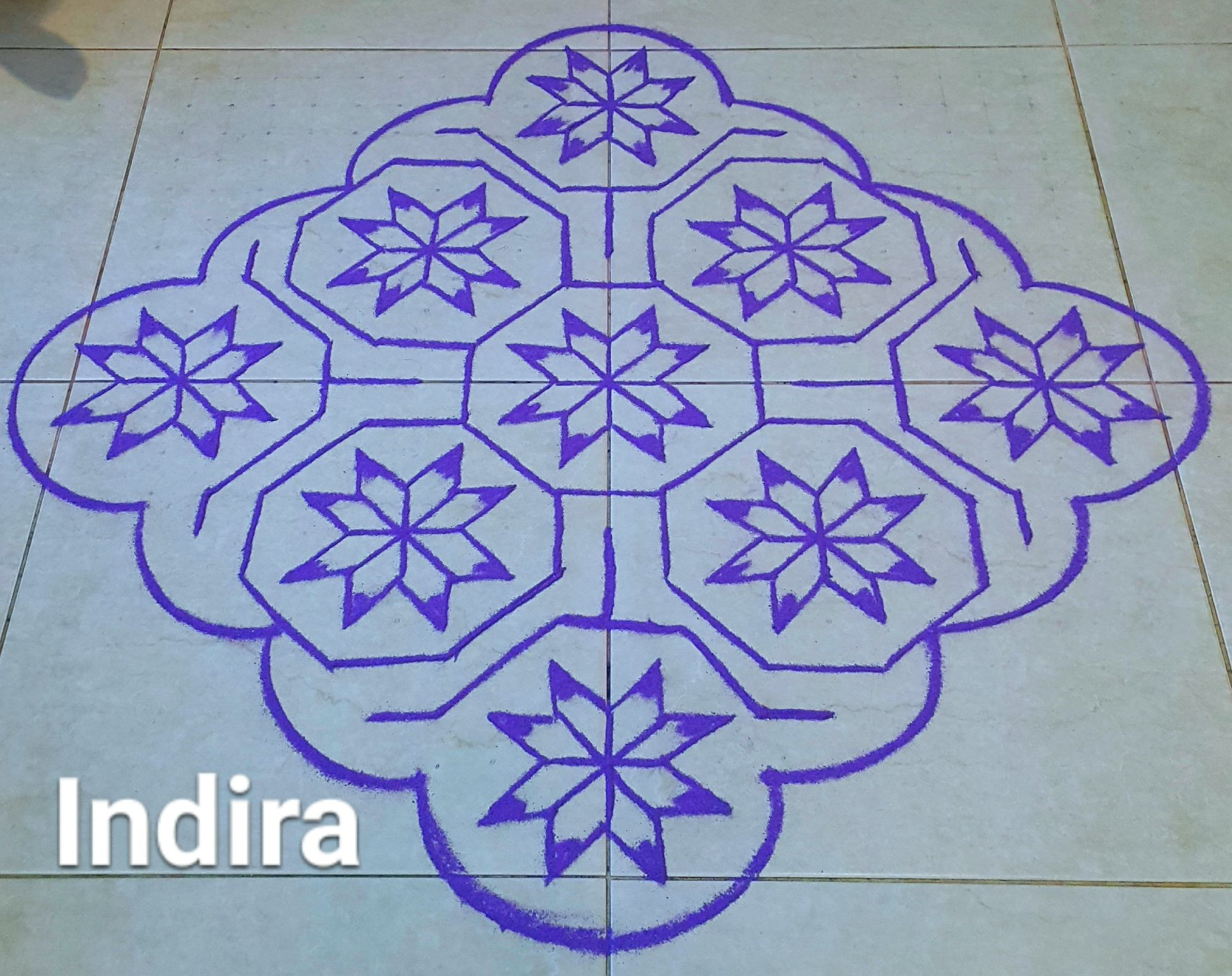 25 dots Flower Kolam || Contest Kolam