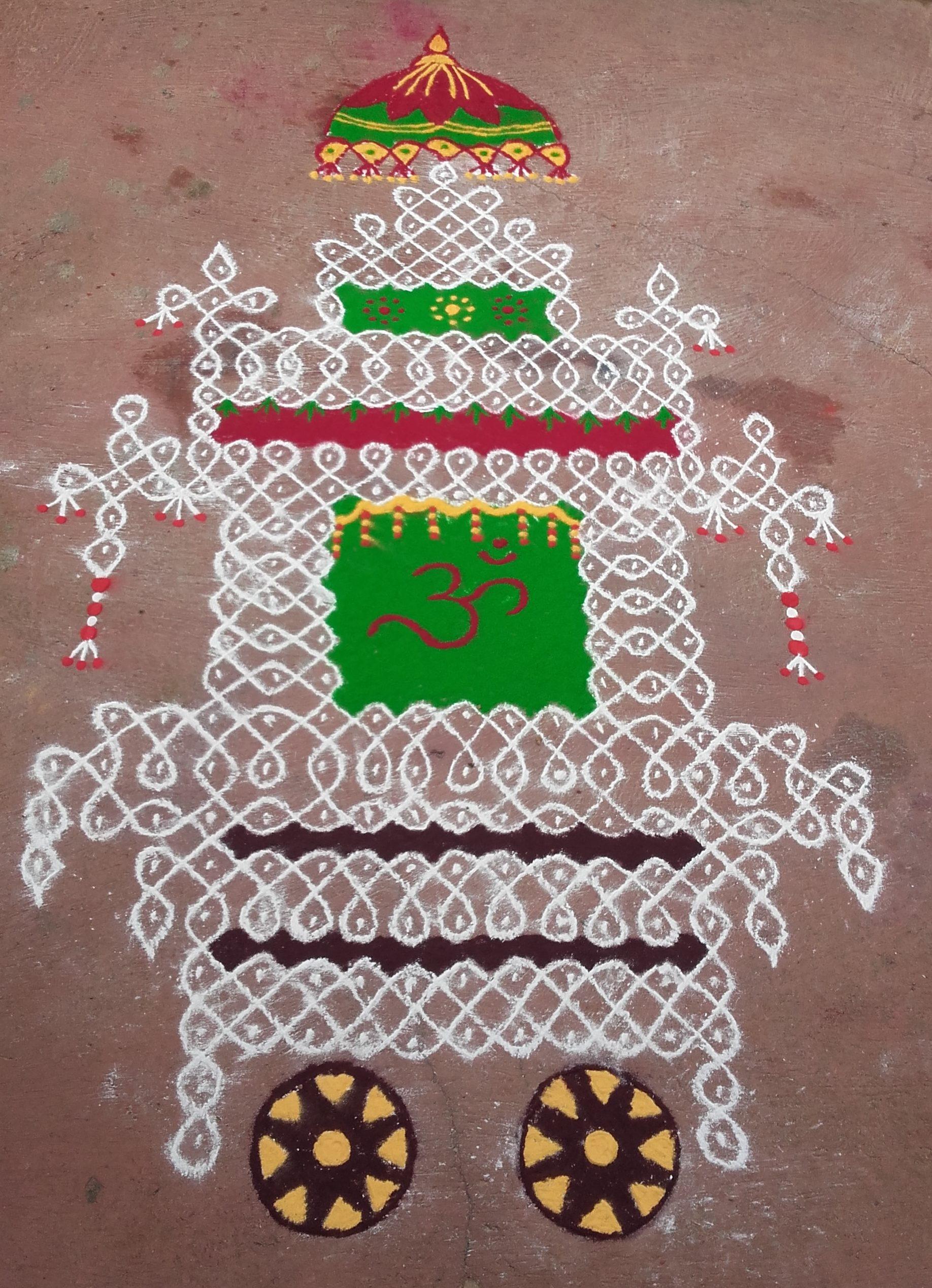 25 dots Ther Kolam || Sikku Kolam For Contest