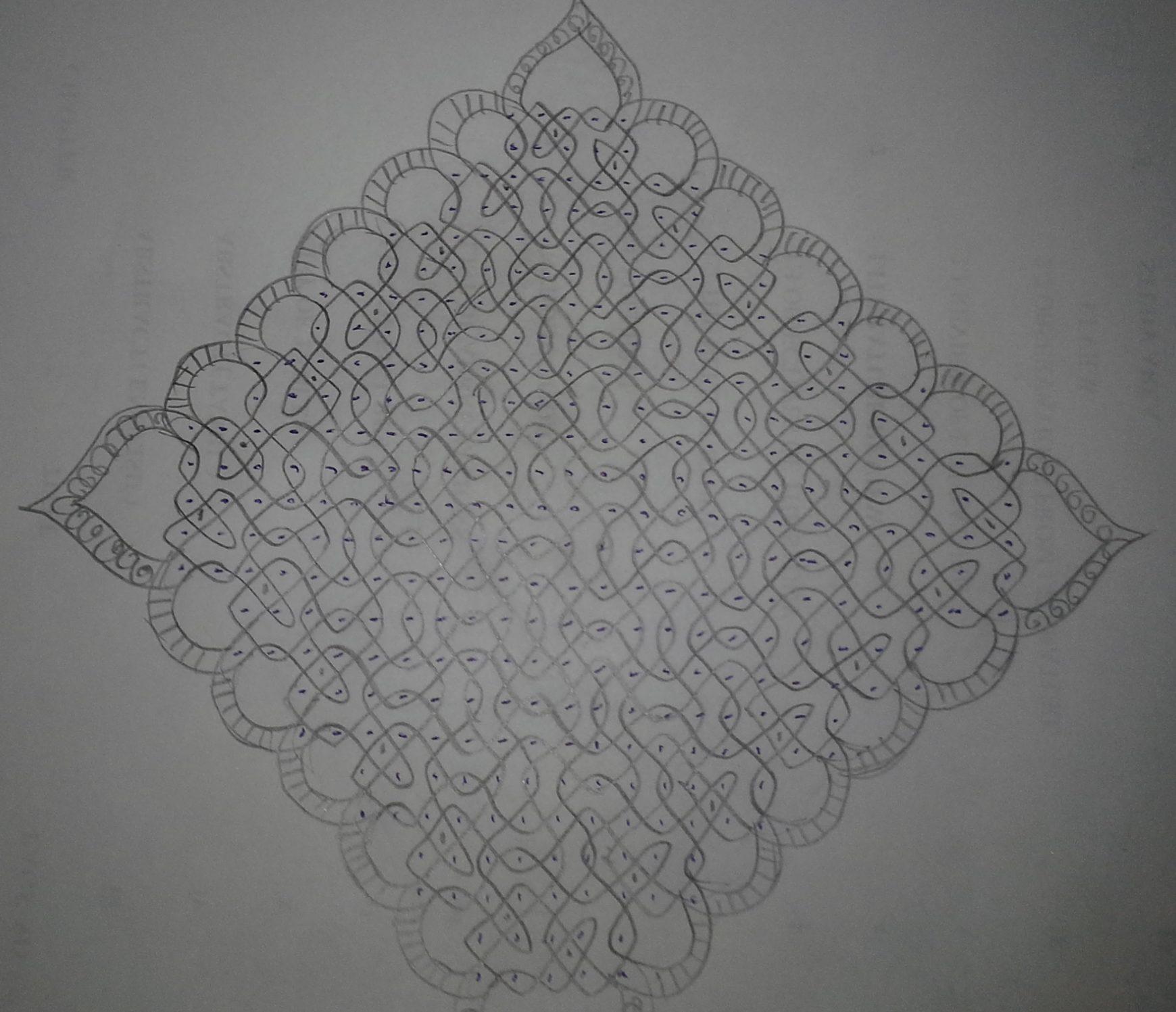 sikku kolam 25 dots contest kolam