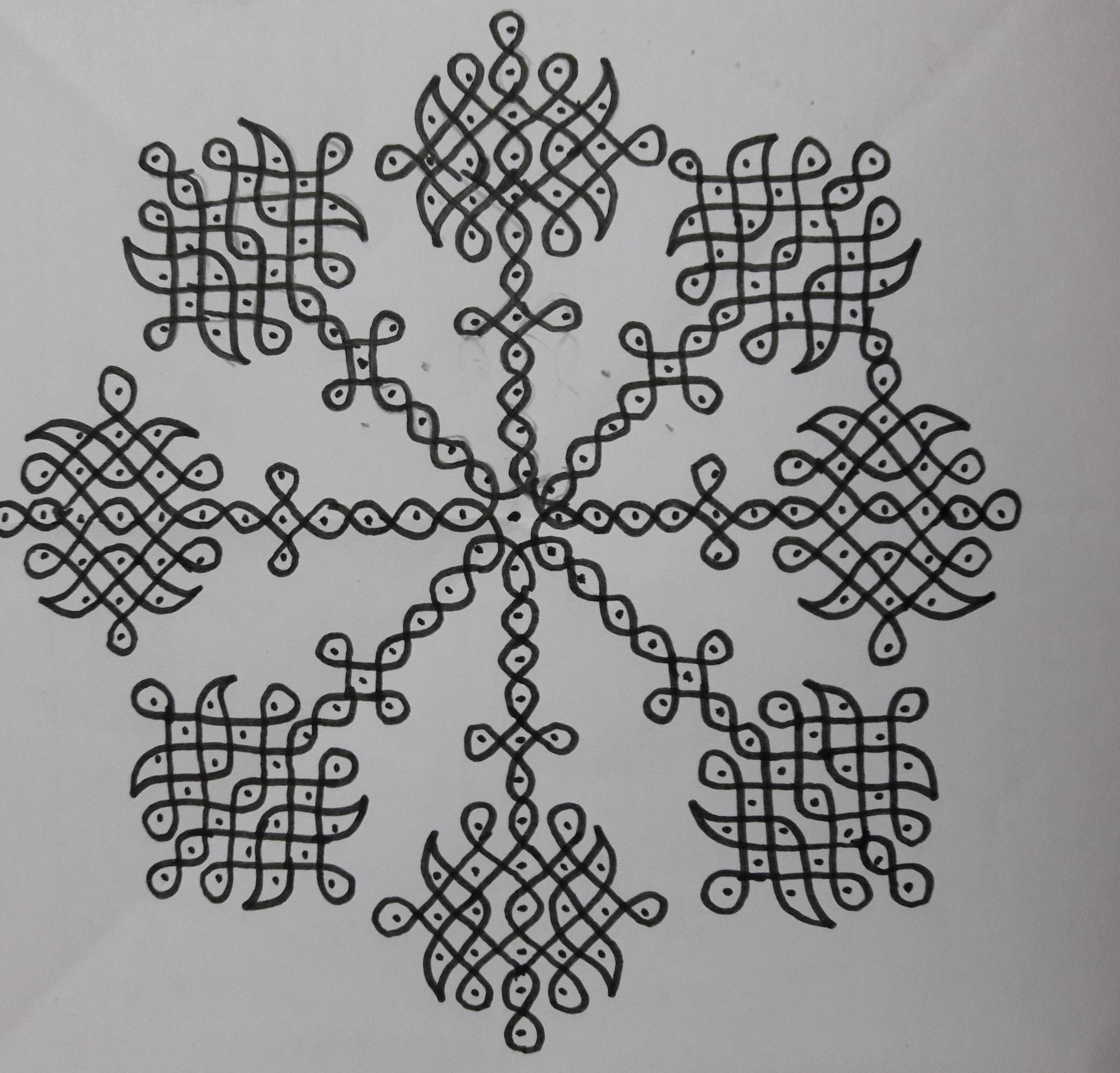 25 dots Sikku kolam || Contest Kolam 21