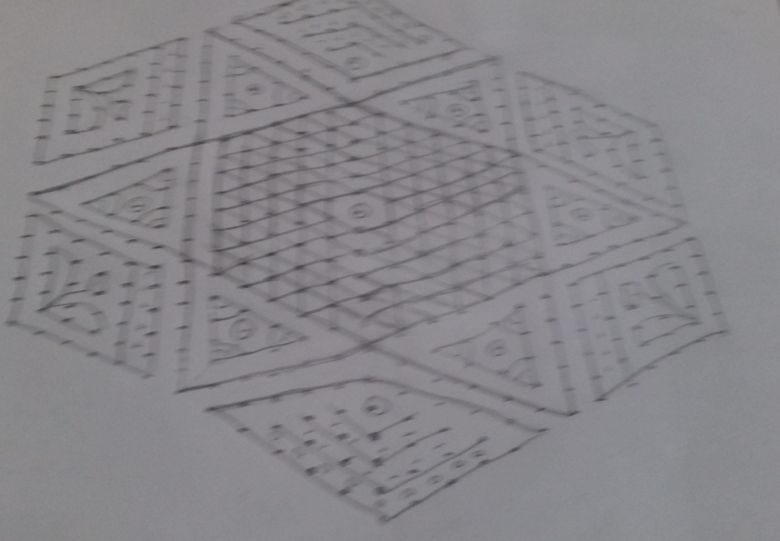25-13 dots design kolam || contest kolam