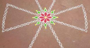 25 dots Flower sikku kolam for contest || Ezhil kolams