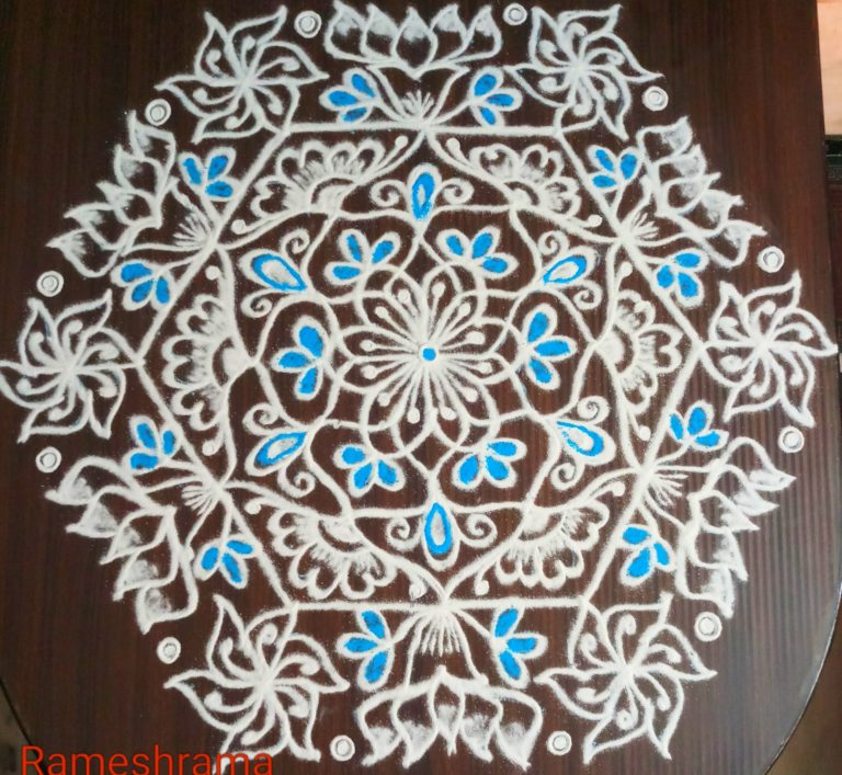 Rangoli design || 25 dots Lotus kolam for contest