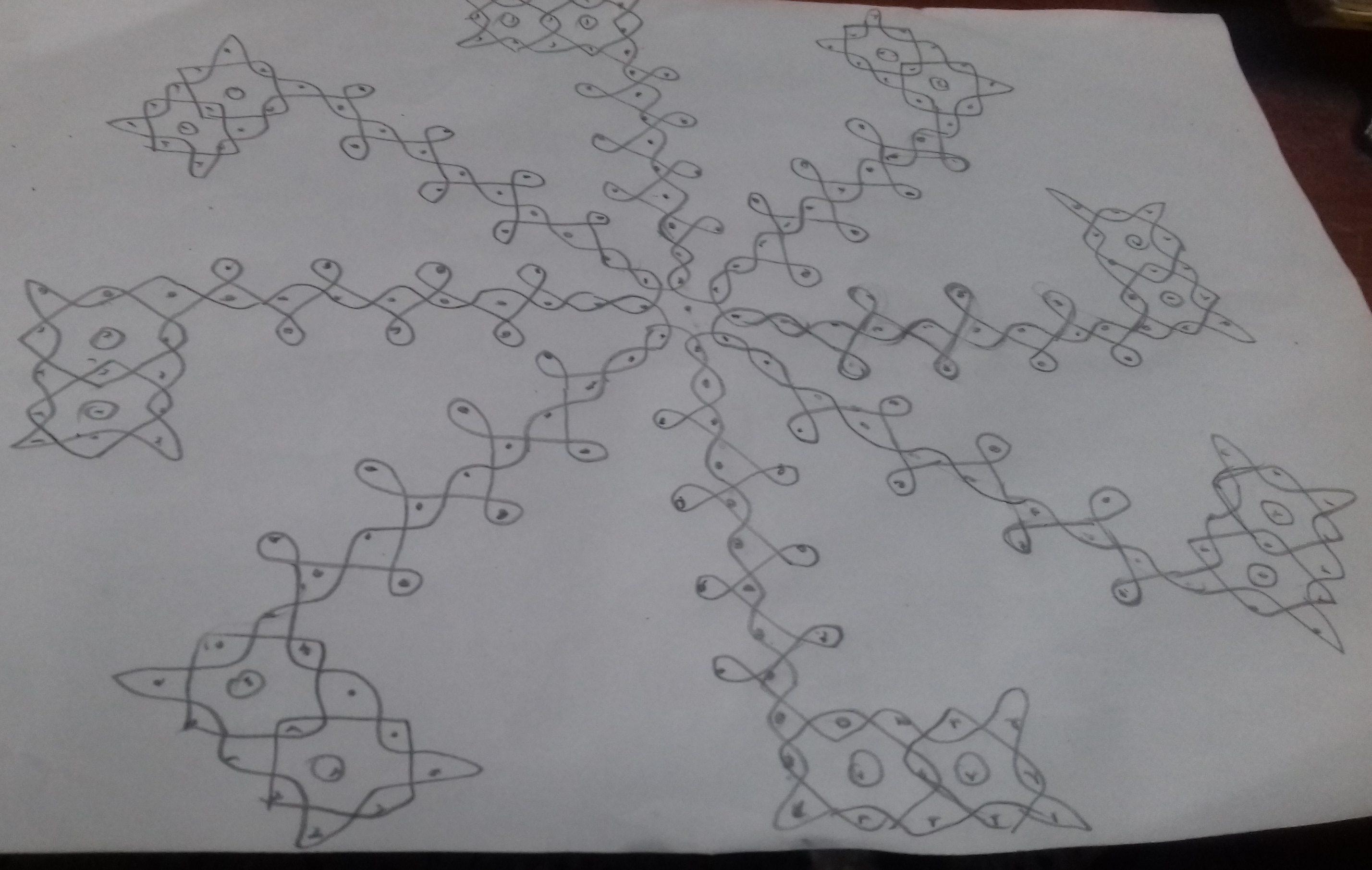chikku kolam || 25 dots Contest sikku kolam