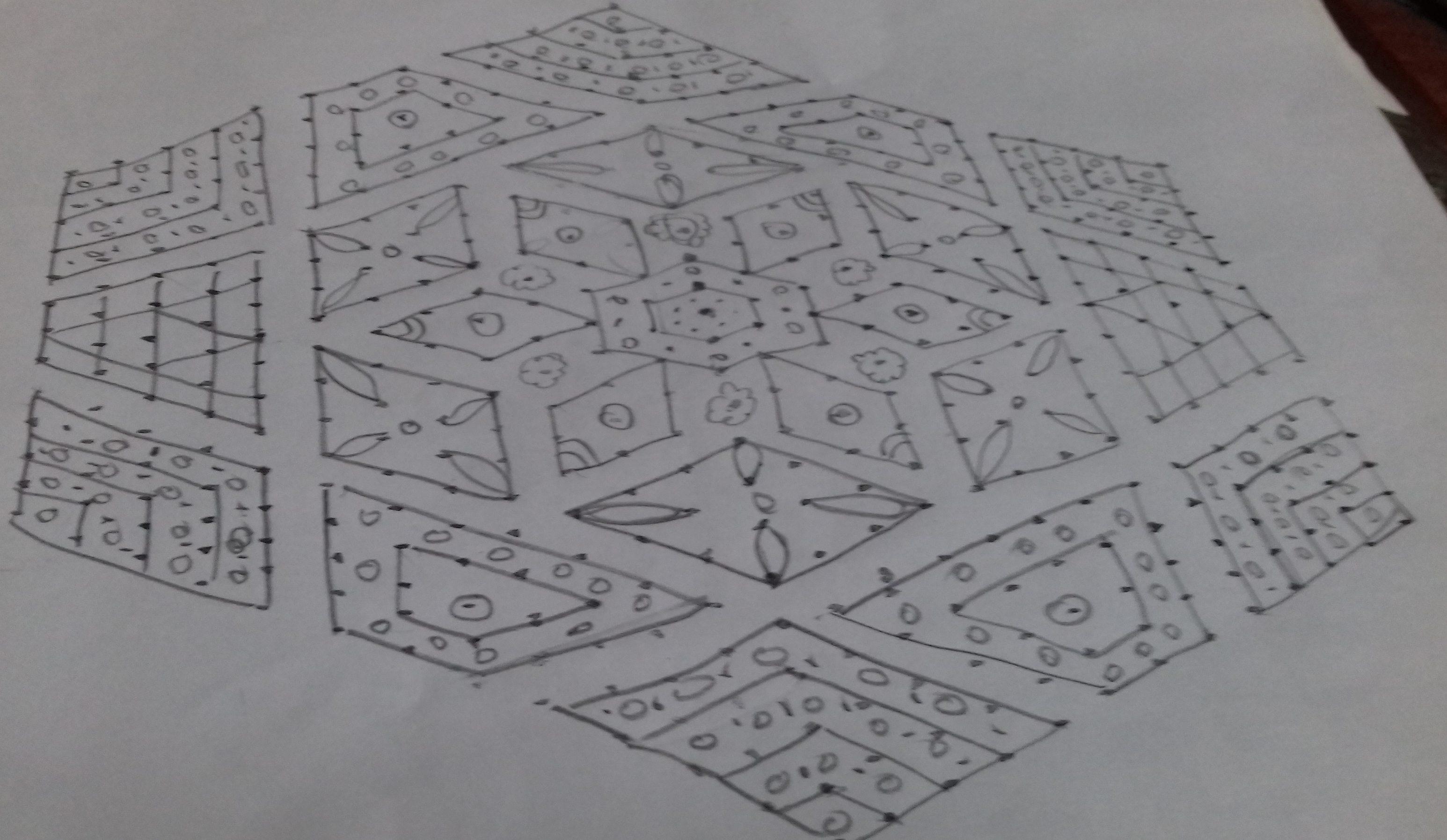 25 dots designed kolam || Contest Kolam