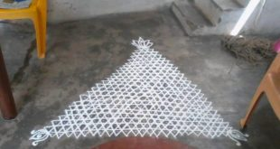 25 dots triangle kolam || contest kolam