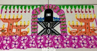Shivalingam-diya kolam || 25 dots contest kolam