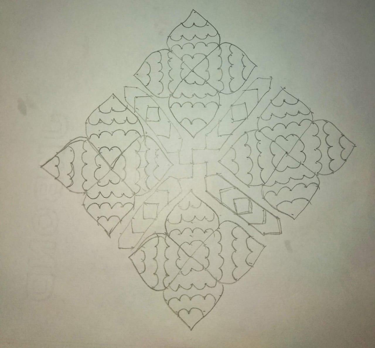 25 dots flower kolam  || 25-1 dots contest Kolam
