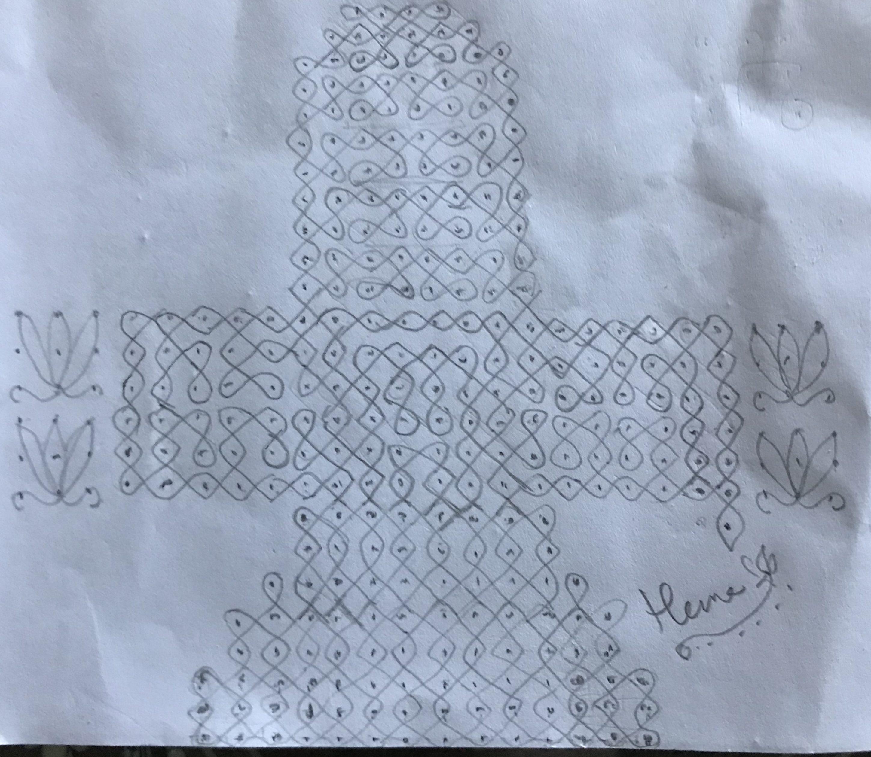 OM NAMAH SHIVAYA 25 dots Chikku kolam || Contest Kolam