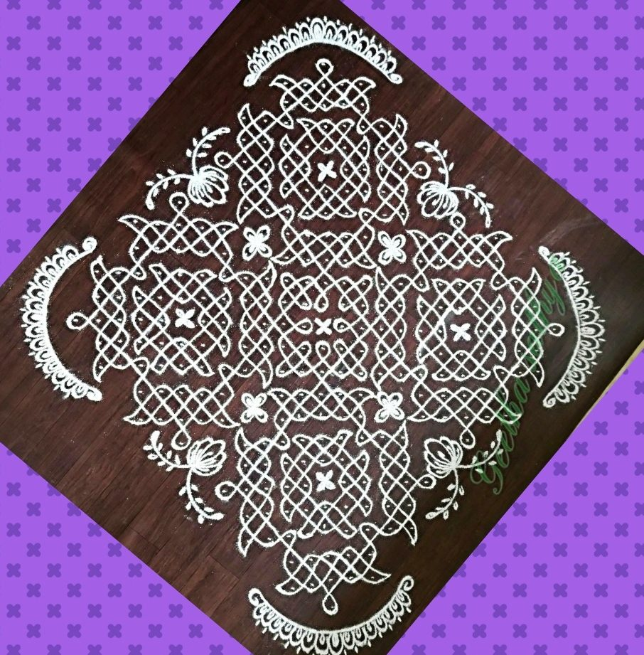 25 dots Chikku kolam for contest