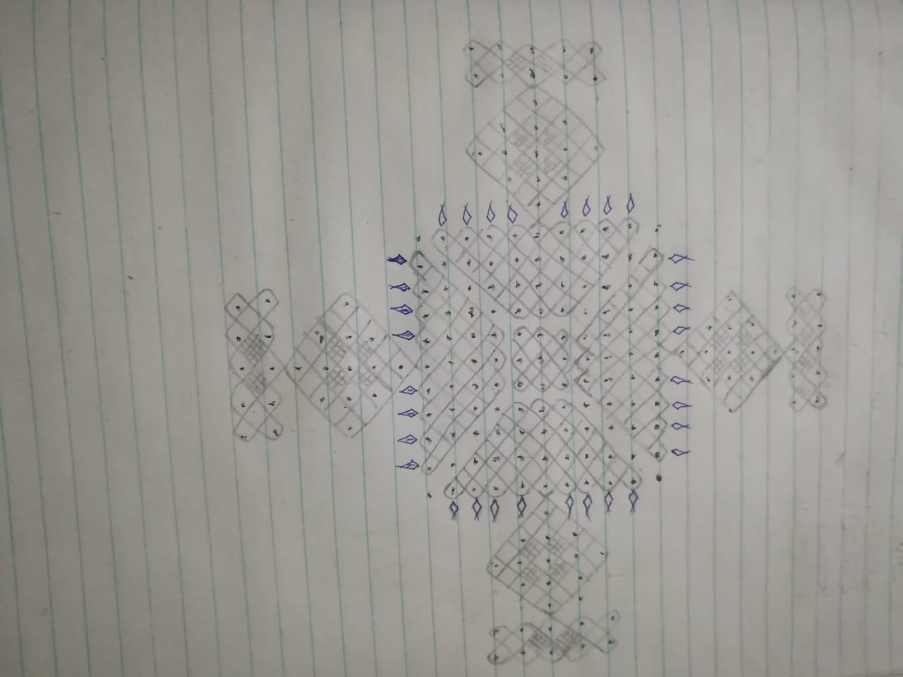 25 dots big Chikku kolam || contest kolam