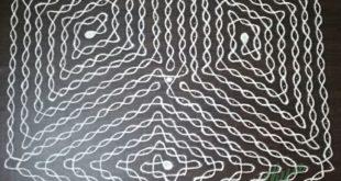 Cube Sikku kolam || 25 dots Contest KolamCube Sikku kolam || 25 dots Contest Kolam