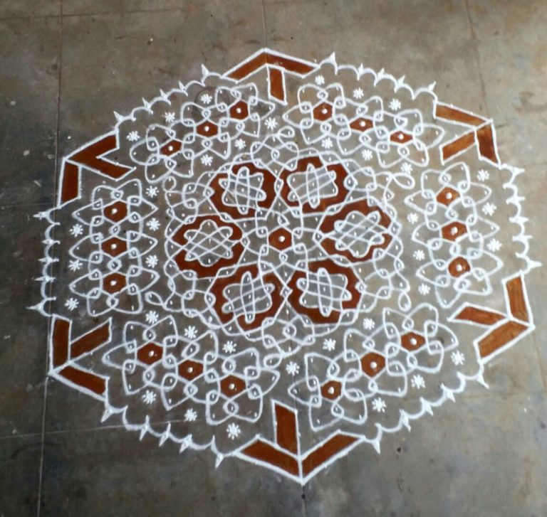 25 dots beautiful flowers chikku kolam ||Contest Kolam