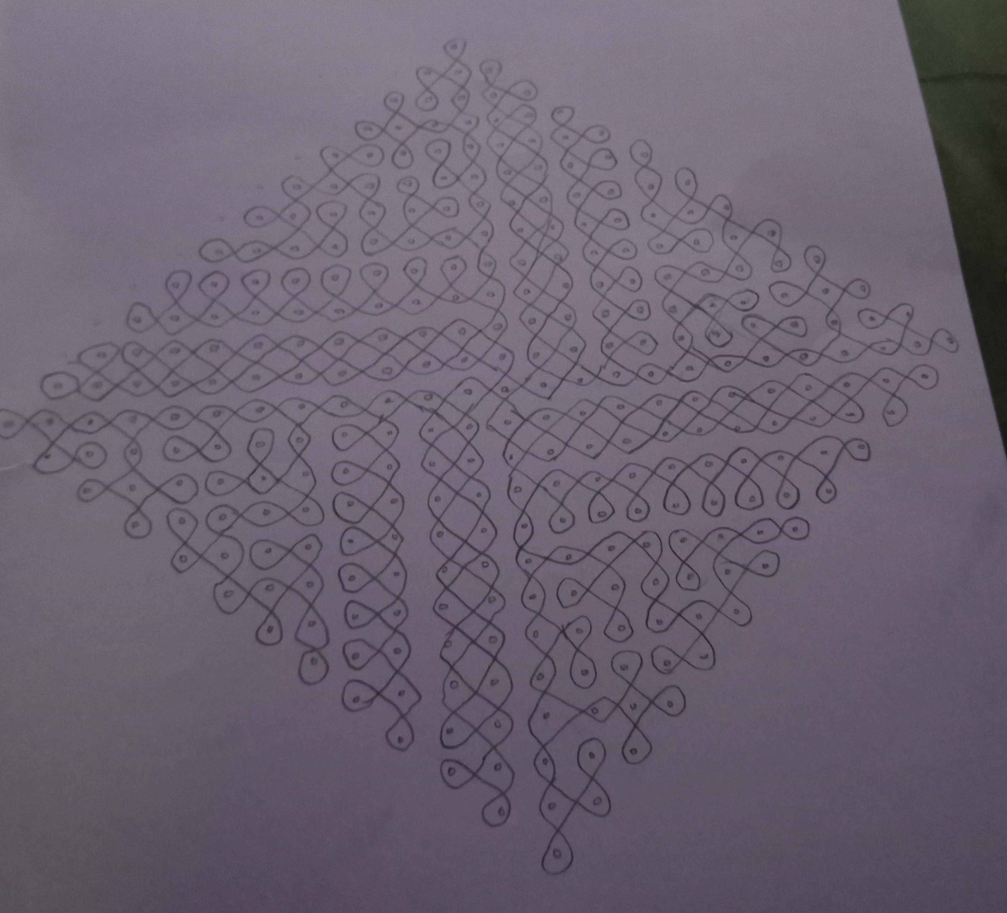 A blend of curves    25 Dots Sikku Kolam for Contest