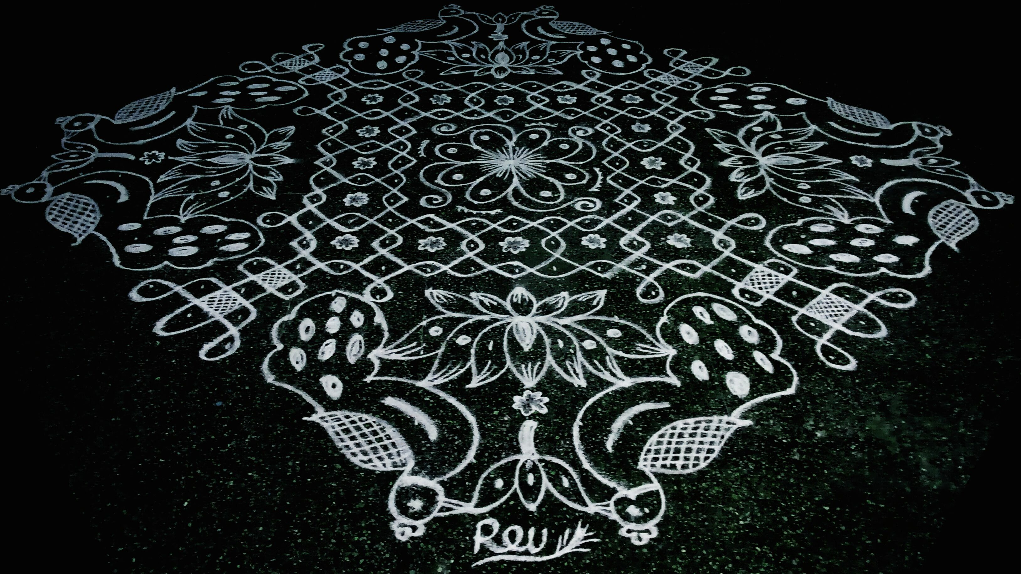 25 dots Bird kolam || Fusion kolam for contest